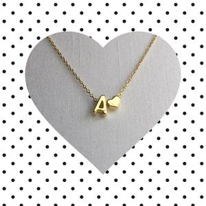 Dainty Letter A Necklace